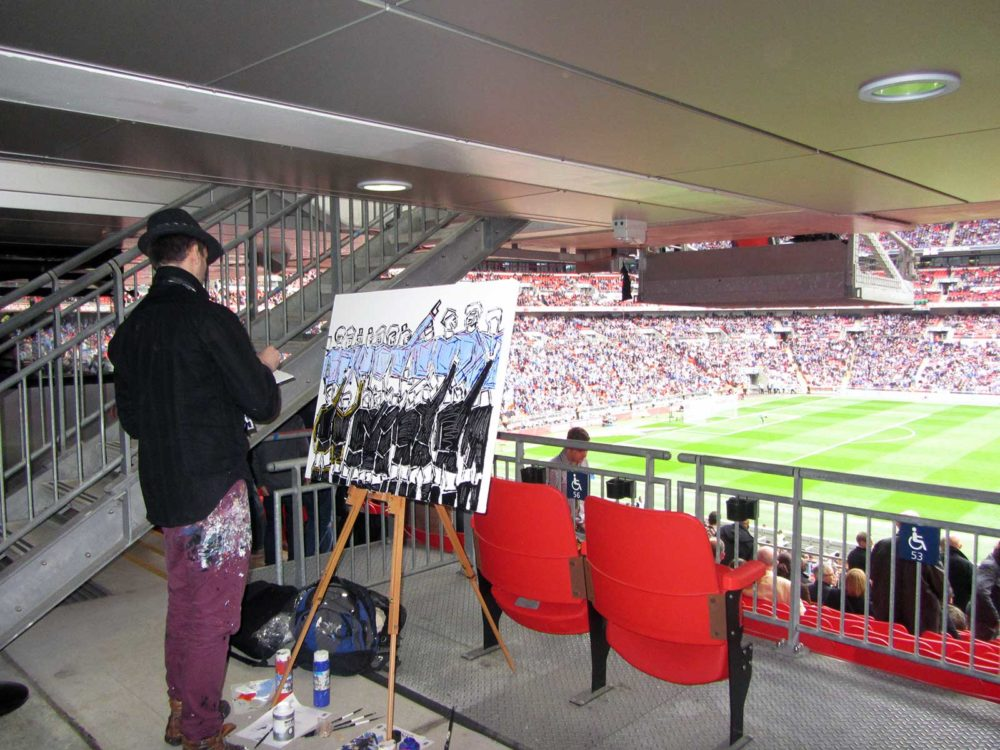 Wembley Stadium Live Painting – 2013 FA Cup